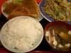 アジフライ・野菜炒め