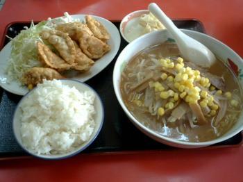 味噌ラーメン+揚げ餃子+半ライス