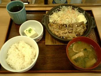 生姜焼き定食<br />