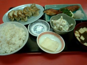 焼き魚(鮭)・餃子セット