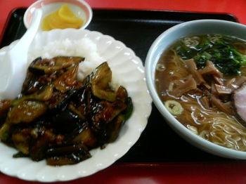 マーボ茄子丼・ラーメン