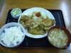 生姜焼きと唐揚定食