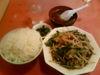ニラ肉炒め定食