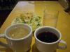 サラダ・スープ・珈琲