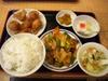 鶏唐揚八宝菜ランチ