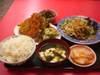 野菜炒めフライ定食