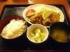 鶏唐揚あじフライ定食