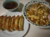 麻婆丼+餃子