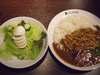 チキンと夏野菜カレーチキンと夏野菜カレー+玉子サラダ