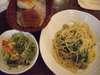 トスカーナ風イタリアンソーセージとほうれん草のスパゲッティ