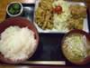 生姜焼き唐揚定食
