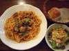若鶏と木のこのスパゲッティ