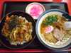 かき揚げ丼+半ラーメン