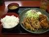鶏唐揚生姜焼定食