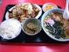 肉野菜炒めラーメンセット