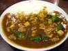 あさりカレー+おくら豆腐