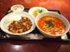 麻婆丼+坦々麺セット